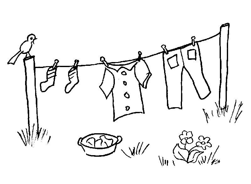 baby clotheline coloring pages - photo#3