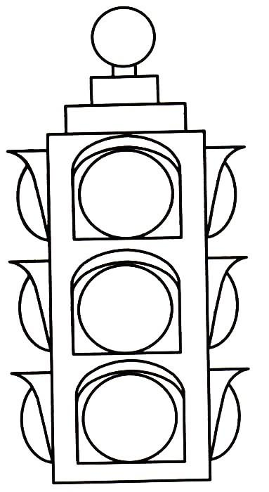 Coloring Page Traffic Light